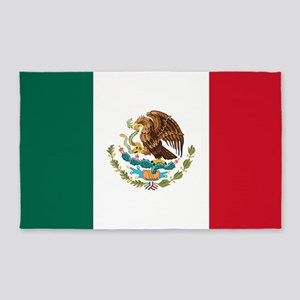 Mexican Flag 3'x5' Area Rug