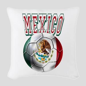 Futbol Mexicano Woven Throw Pillow