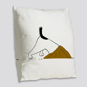 dig_bark_eat_jrt Burlap Throw Pillow