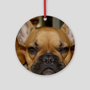 French Bulldog Calendar Ornament (Round)