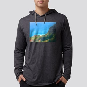 Looking Down Mens Hooded Shirt