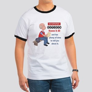 Funny Knows It All Retirement Ringer T