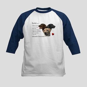 Labrador Retriever Love Kids Baseball Jersey