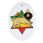 Zion Lion Oval Ornament