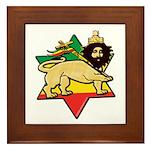 Zion Lion Framed Tile