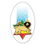 Zion Lion Oval Sticker
