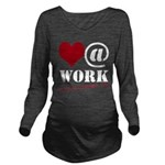 Heart at Work Long Sleeve Maternity T-Shirt