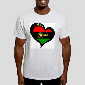 Afro Rasta Ash Grey T-Shirt
