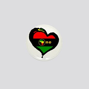 Afro Rasta Mini Button