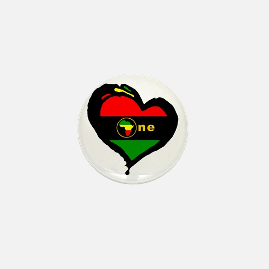 Afro Rasta Mini Button