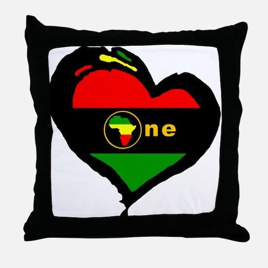 Afro Rasta Throw Pillow