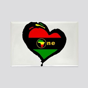 Afro Rasta Rectangle Magnet