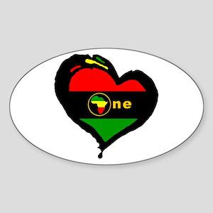 Afro Rasta Oval Sticker