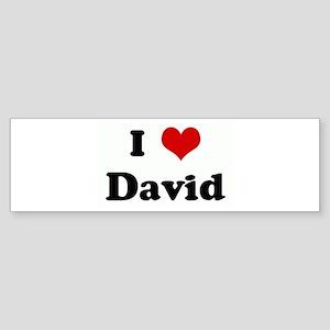 I Love David Bumper Sticker