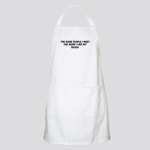Boxer: people I meet BBQ Apron