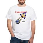 White BigAssRobot T-shirt