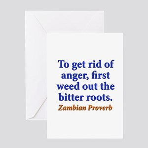 To Get Rid Of Anger - Zambian Greeting Card
