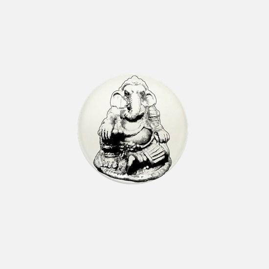 Seated Ganesh (Ganesha) BW Mini Button