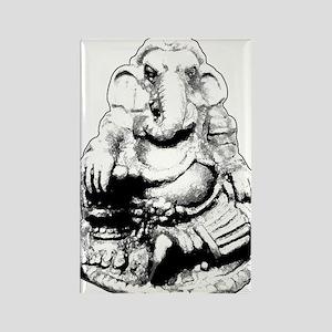 Seated Ganesh (Ganesha) BW Magnets