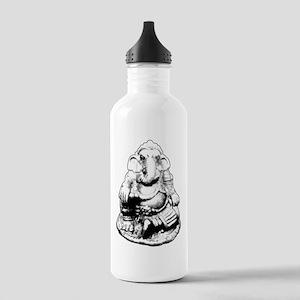 Seated Ganesh (Ganesha) BW Water Bottle