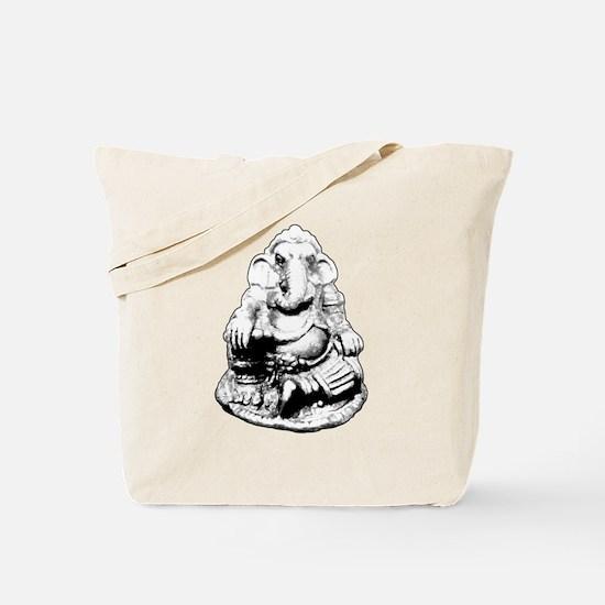 Seated Ganesh (Ganesha) BW Tote Bag