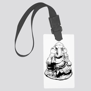 Seated Ganesh (Ganesha) BW Luggage Tag