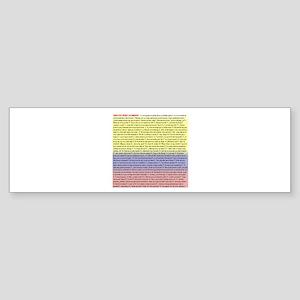 102 dichos colombianos Bumper Sticker