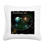 StarGate Square Canvas Pillow