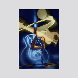 The Guitar Player, Abstract Desig Rectangle Magnet