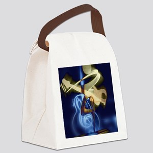 The Guitar Player, Abstract Desig Canvas Lunch Bag