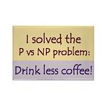 I solved P vs NP! Rectangle Magnet (100 pack)