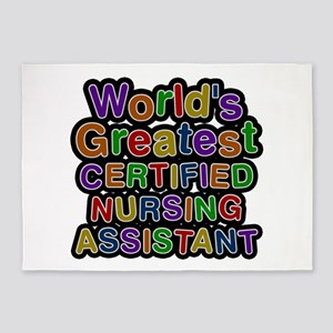 World's Greatest CERTIFIED NURSING ASSISTANT 5'x7'