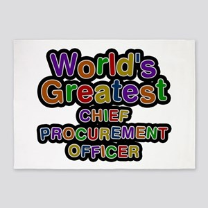 World's Greatest CHIEF PROCUREMENT OFFICER 5'x7' A