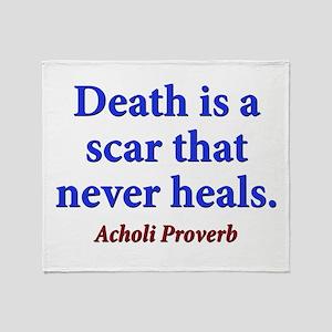Death Is A Scar - Acholi Throw Blanket
