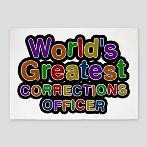 World's Greatest CORRECTIONS OFFICER 5'x7' Area Ru