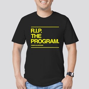 Fitted Tee (dark) - RIP The Program (yellow)