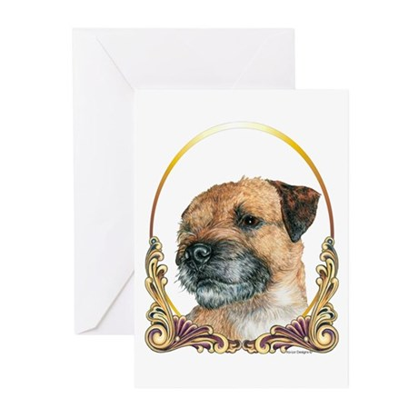 Border Terrier Christmas/Holiday Greeting Cards (P