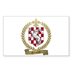 GARNEAU Family Crest Rectangle Decal