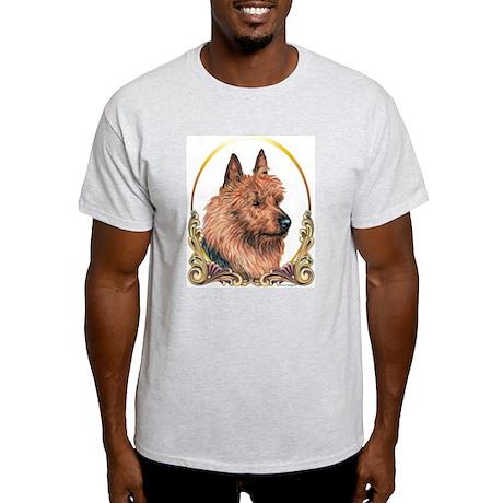 Australian Terrier Christmas/Holiday Ash Grey T-Sh