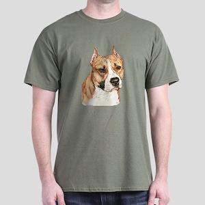 American Staffordshire Terrier Dark Color T-Shirt