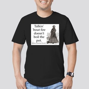 Talkin Bout Fire Men's Fitted T-Shirt (dark)
