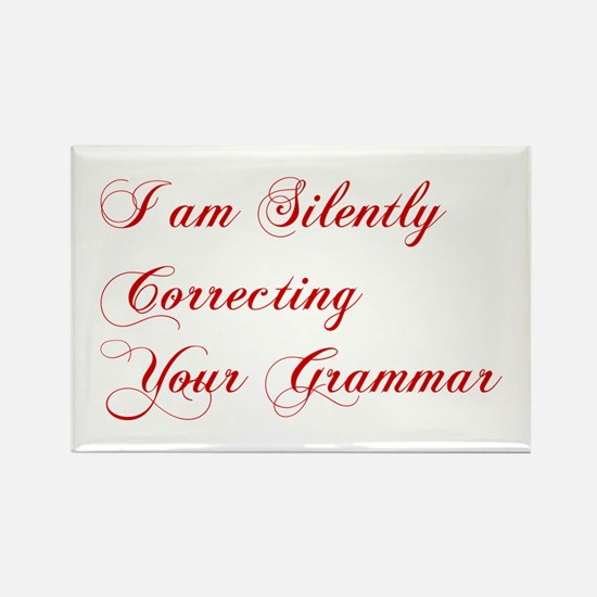 silently-correcting-grammar-cho-red Magnets