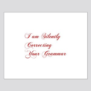 silently-correcting-grammar-cho-red Posters