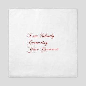silently-correcting-grammar-cho-red Queen Duvet