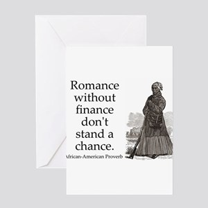 Romance Without Finance Greeting Card