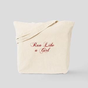run-like-a-girl-cho-red Tote Bag