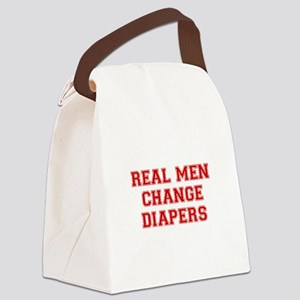 real-men-diapers-VAR-RED Canvas Lunch Bag