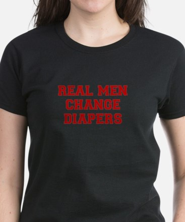 real-men-diapers-VAR-RED T-Shirt