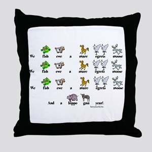 Mare Egrets Moose! Throw Pillow