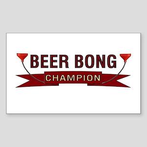 Beer Bong Champion Rectangle Sticker